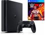 1 - Sony Playstation 4 Slim, 500 GB, črn + WWE 2K17