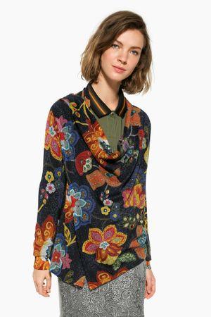 Desigual ženski pulover Celia S temno modra
