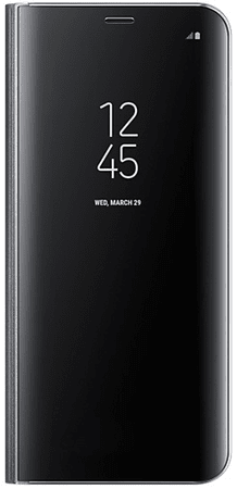 SAMSUNG Kryt Clear View Standing Cover (Samsung Galaxy S8 Plus), Fekete outlet