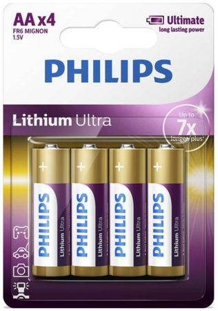 Philips baterije Lithium Ultra Blister AA, 4 kosi (LR6)