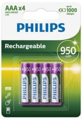 Philips polnilne baterije Ni-mH Blister AAA, 4 kosi