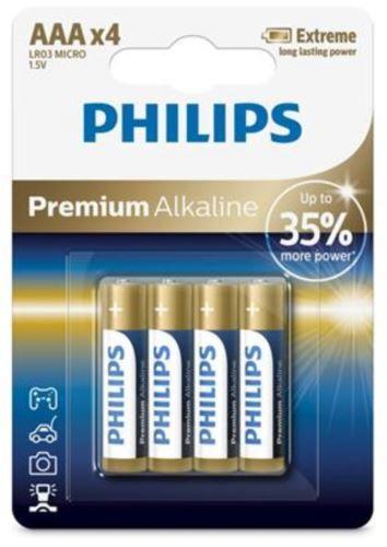 Philips baterije Premium Alkaline Blister AAA, 4 kosi (LR03)