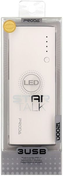 REMAX PowerBank PPP-11 Proda Star Talk (12000 mAh), bílá