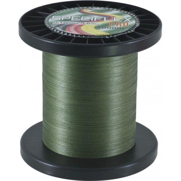 Saenger Pletená Šňůra Speciflex Pro Zelená 1000 m 0,10 mm, 9,65 kg