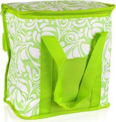 Happy Green Taška chladiaci veľká zelená / biela