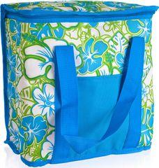 Happy Green Taška chladiaca veľká Blue / Green Flower