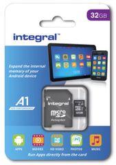 Integral spominska kartica microSDHC 32GB A1 App Performance UHS-I