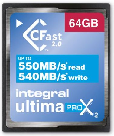 Integral spominska kartica UltimaPro 64GB X2 CFast 2.0