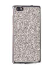 Silikonski ovitek za Huawei P10 Lite, s srebrnim okvirjem in bleščicami