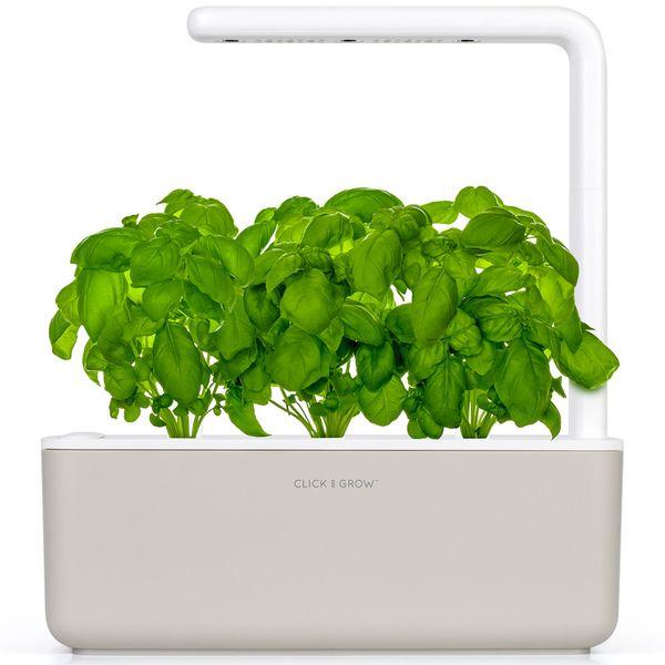 Click and Grow chytrý květináč pro pěstování bylinek, zeleniny, květin a stromů - Smart Garden 3, béžová