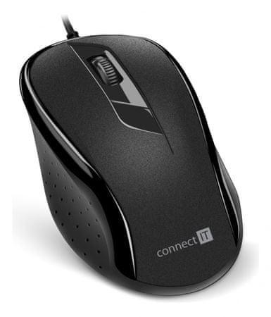 Connect IT mysz optyczna czarna (CMO-1200-BK)