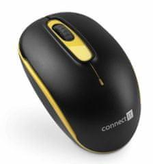 Connect IT bezdrátová optická myš, žlutá (CMO-1000-YL)