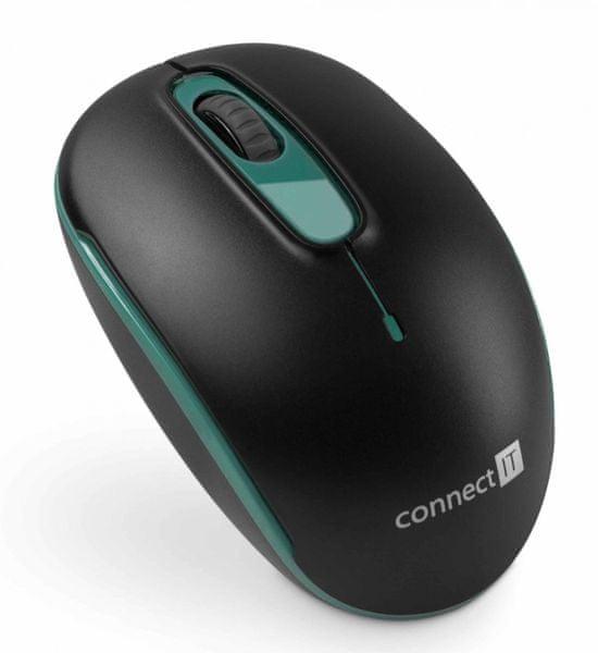 Connect IT bezdrátová optická myš, zelená (CMO-1000-GR)