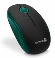 Connect IT bezdrátová optická myš, zelená (CMO-1500-GR)