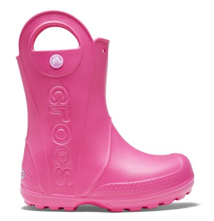 Crocs otroški škornji Handle It Rain Boot, roza, 24.5