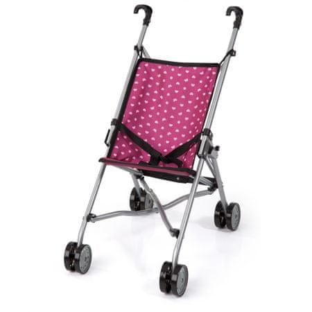 Bayer Design voziček za punčke Buggy, srebrno-črn