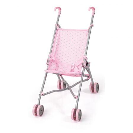 Bayer Design voziček za punčke Buggy, srebrno-roza