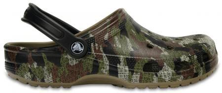 Crocs čevlji Classic Camo Clog, zeleni, 38.5