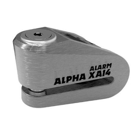 Oxford disk ključavnica z alarmom XA14, srebrna