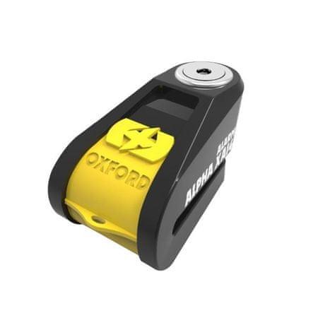 Oxford disk ključavnica z alarmom XA14, črna/rumena