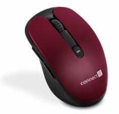 Connect IT bezdrátová optická myš, červená (CMO-3000-RD)