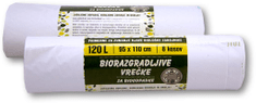 Piskar Oxo-Bio vreče za biološke odpadke 120 L / 8 kosov / 2 kpl