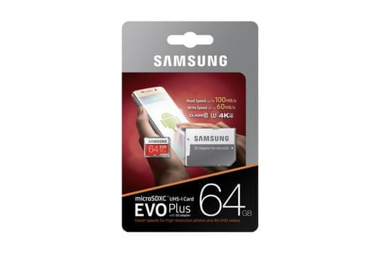 Samsung karta pamięci micro SDXC 64GB EVO Plus + SD adapter (MB-MC64GA/EU)
