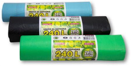 Piskar vrečke za smeti, 100 x 120 cm, 240 L / 5 kosov / 3 kpl