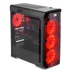 LC Power gaming ohišje Gaming 988B Red Typhoon AT