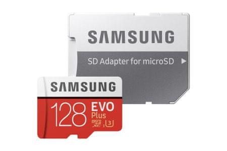 Samsung 128GB EVO+ MICRO SDXC, UHS-I,class10, U3, 4K, UltraHD