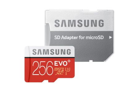SAMSUNG microSDXC 256GB EVO Plus 80 MB/s + adaptér (MB-MC256DA/E)