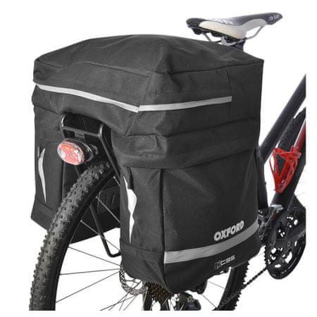 Oxford kolesarska torba za prtljažnik Laterali, 35 l - Odprta embalaža