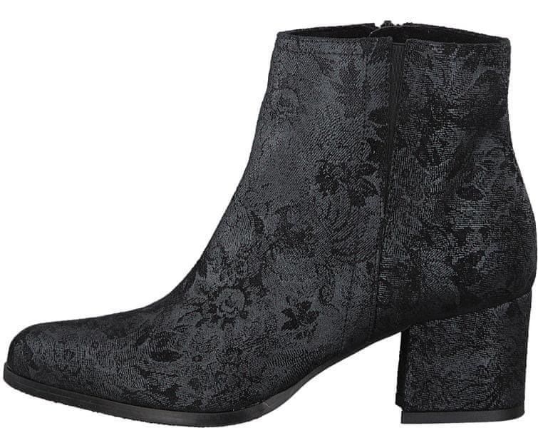 Tamaris dámská kotníčková obuv 37 černá