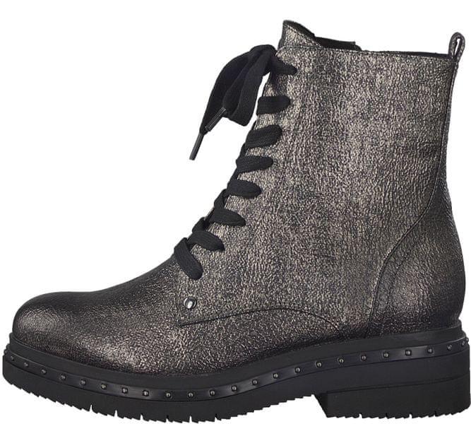 Tamaris dámská kotníčková obuv 38 stříbrná