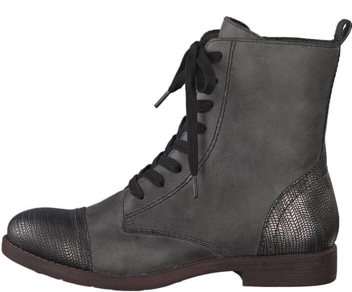 Tamaris dámská kotníčková obuv 41 šedá