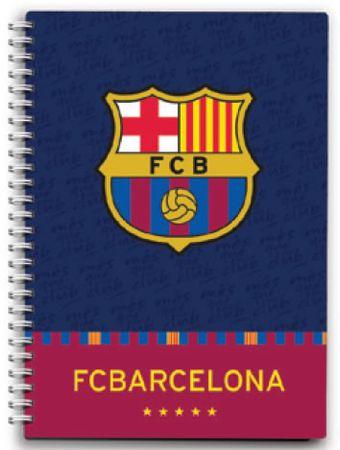 FC Barcelona beležka na spiralo, 80-listna, z 80 g papirjem