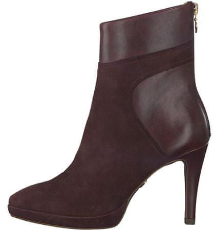 Tamaris ženski škornji 39 bordo rdeča