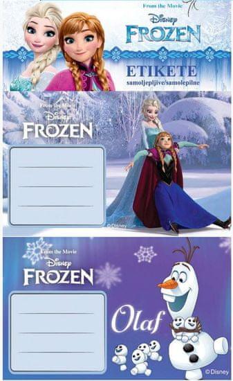 etikete za bilježnice Frozen 10/1