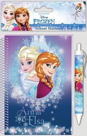 Frozen otroški set Frozen 2/1, beležka in kemični svinčnik