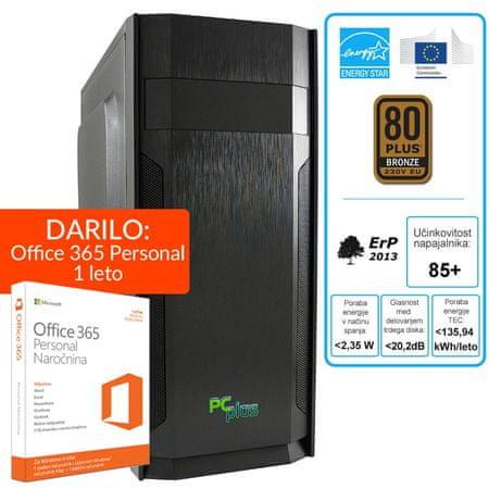 PCplus namizni računalnik e-m@chine i5-7400/8GB/240GBSSD/Win10 + darilo: 1 leto Office 365 Personal