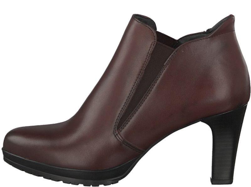 Tamaris dámská kotníčková obuv 39 vínová