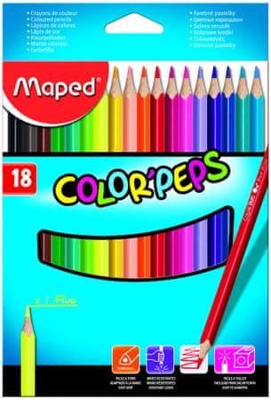 Maped trirobe barvice Color'peps, 18/1, karton