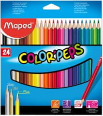 Maped trirobe barvice Color'peps, 24/1, karton