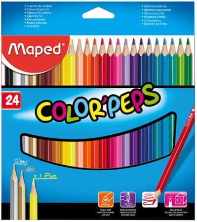 Maped trirobe barvice Color'peps, 24/1, karton