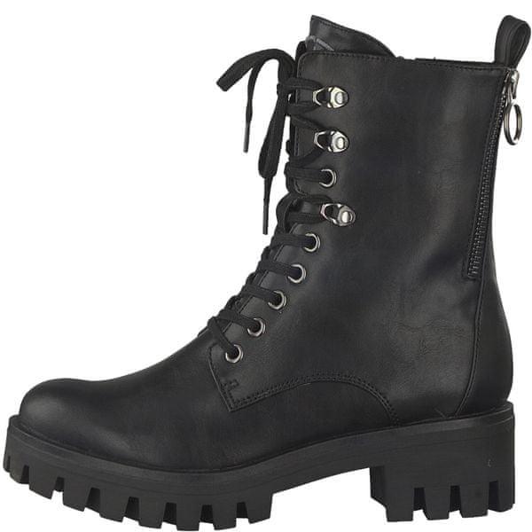 Tamaris dámská kotníčková obuv 38 černá