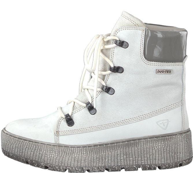 Tamaris dámská kotníčková obuv 39 bílá