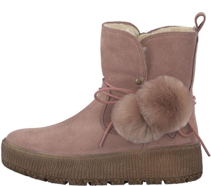 Tamaris dámská kotníčková obuv 40 růžová