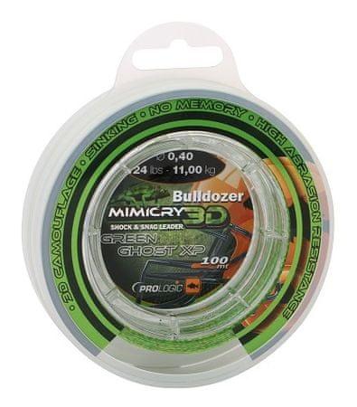 ProLogic Šokový vlasec Bulldozer Mimicry Green Ghost XP 100 m  ,