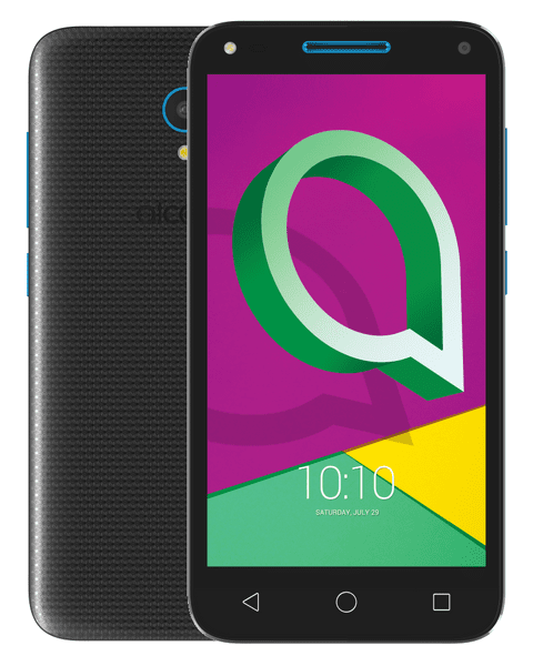 Alcatel U5, 3G (4047D), Volcano Black / Sharp Blue