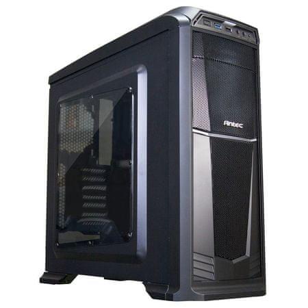 Antec gaming ohišje GX330 midi ATX, z oknom, črno
